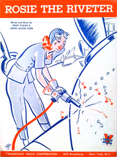 Cover of the published music to the 1942 song
