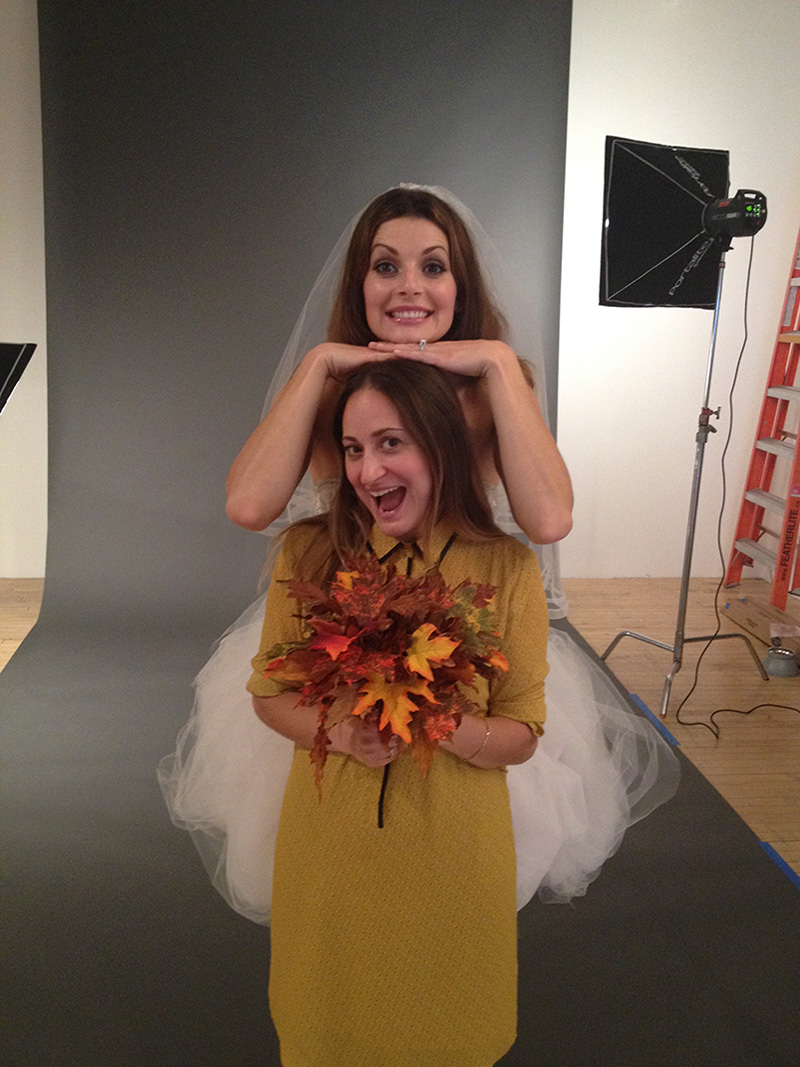 Talia as Jessica's stand-in flower girl.