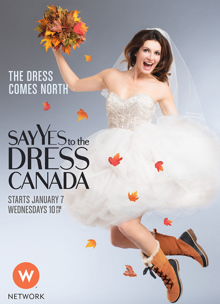 Final image for the Say Yes To The Dress Canada campaign.